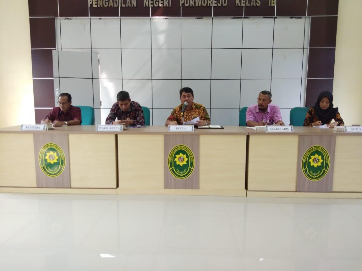 Rapat Kerja Periode April 2019 Pada Satuan Kerja Pengadilan Negeri Purworejo