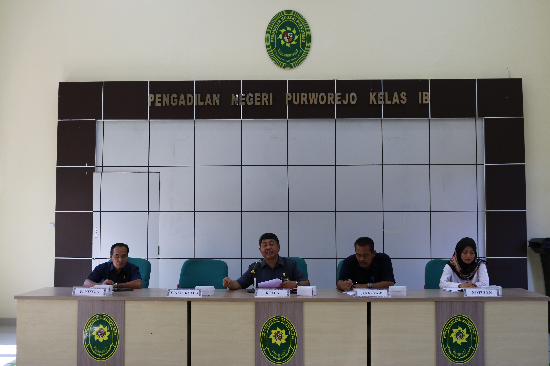 Pengadilan Negeri Purworejo mengadakan Rapat Bulanan untuk Bulan Februari Tahun 2020