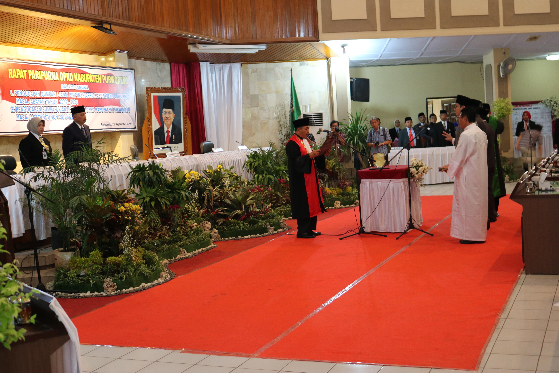 KPN Purworejo Sutarno, SH., M.Hum melantik Pimpinan DPRD Kabupaten Purworejo masa jabatan 2019-2024