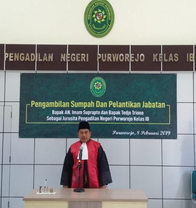 Pengambilan Sumpah dan Pelantikan Jabatan Jurusita Pada Pengadilan Negeri Purworejo