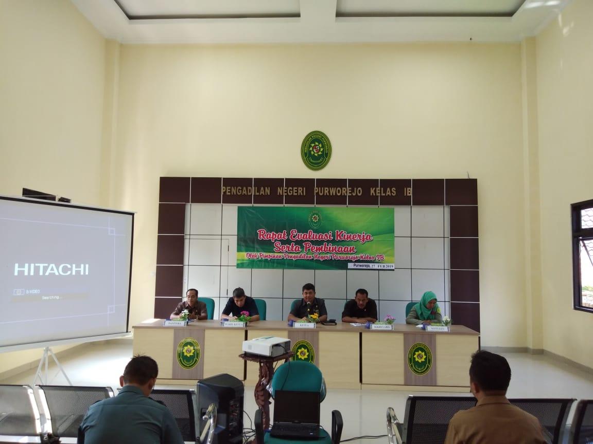 Rapat Bulanan Periode Februari 2019 Pengadilan Negeri Purworejo