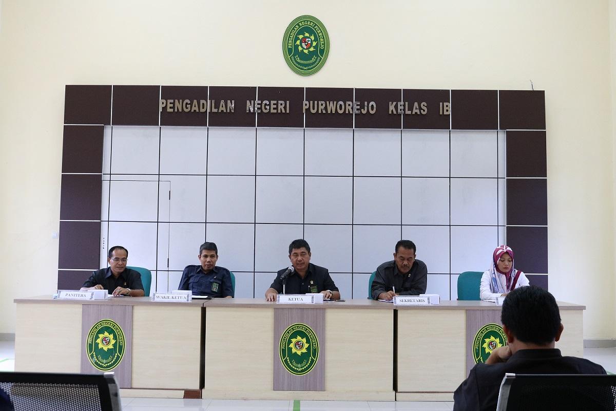 PN Purworejo Mengadakan Rapat Bulanan | Bulan Nopember 2019