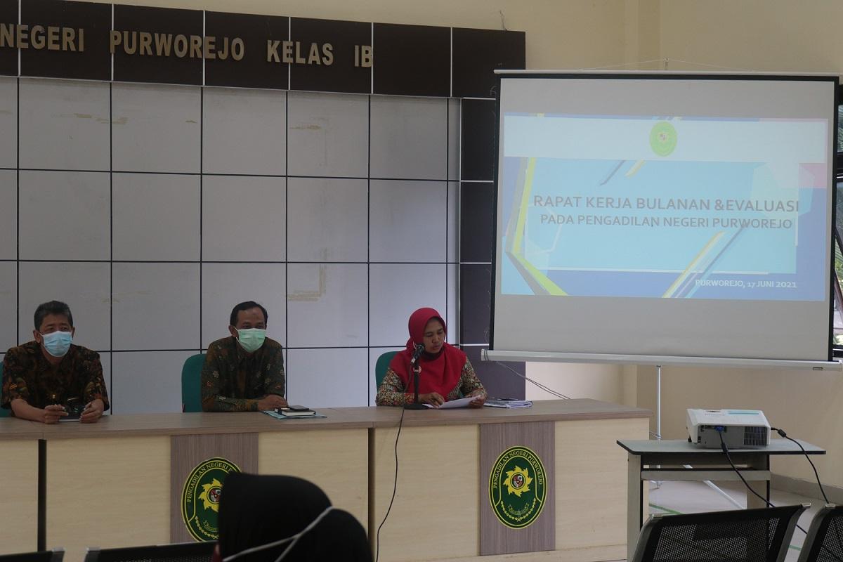 Evaluasi Kinerja Bulanan, Pengadilan Negeri Purworejo Rapat Kerja