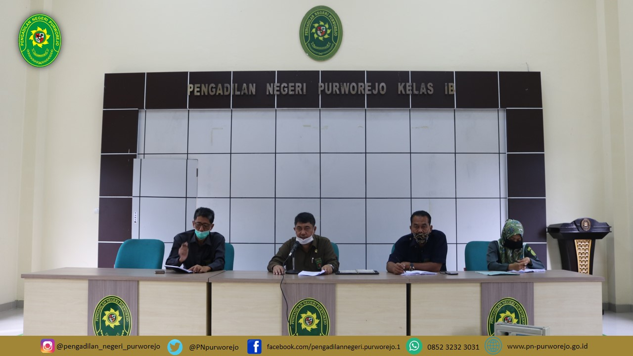 Pengadilan Negeri Purworejo Mengadakan Rapat Bulan Juli Tahun  2020