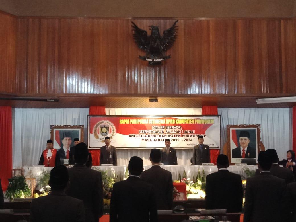 KPN Purworejo melantik 43 Anggota DPRD Kabupaten Purworejo masa jabatan tahun 2019-2024