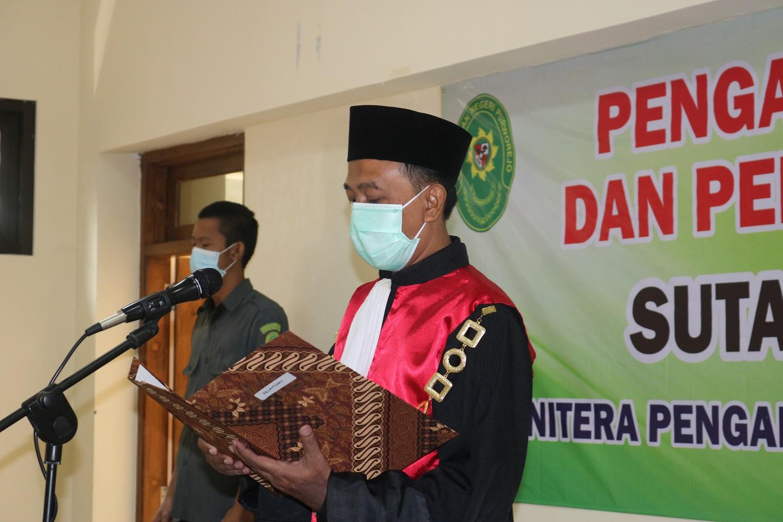 Pelantikan Dan Pengambilan Sumpah Jabatan Panitera Pengadilan Negeri Purworejo