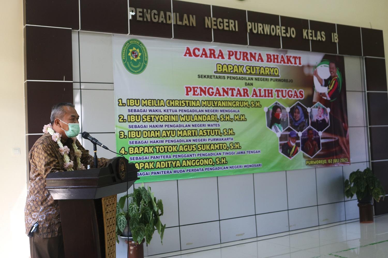 Acara Purna Bhakti dan Pengantar Alih Tugas pada Pengadilan Negeri Purworejo