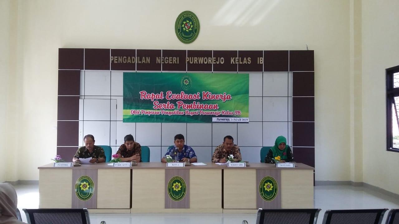 Rapat Bulan Maret 2019 Pengadilan Negeri Purworejo
