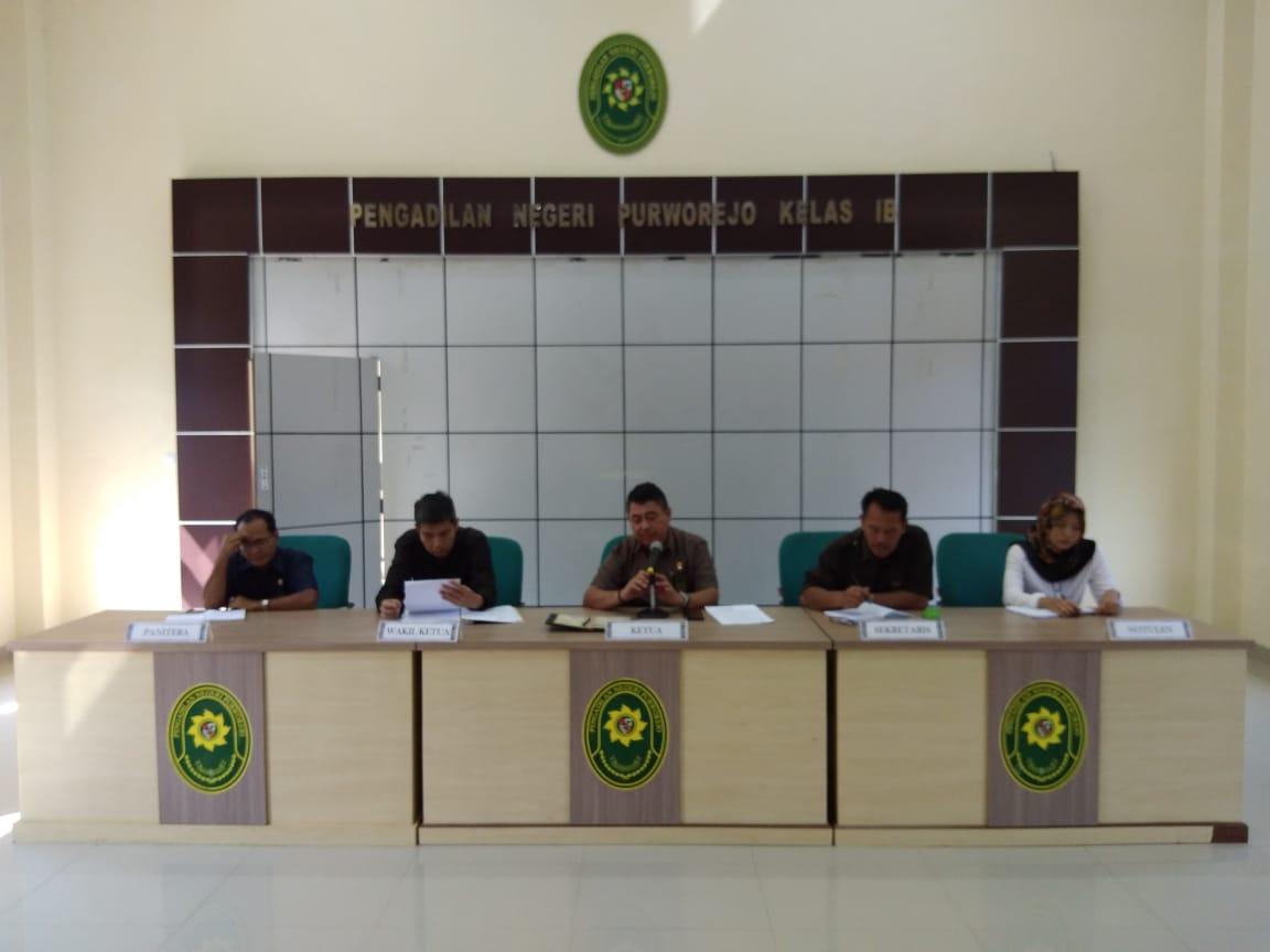 Rapat Kerja Periode Juni 2019 Pada Satuan Kerja Pengadilan Negeri Purworejo