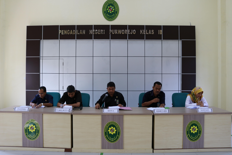 Rapat Kerja Periode Oktober 2019 Pada Satuan Kerja Pengadilan Negeri Purworejo